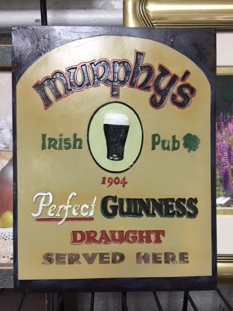 Murphy's Irish Pub Plaque Featuring Guinness Draught