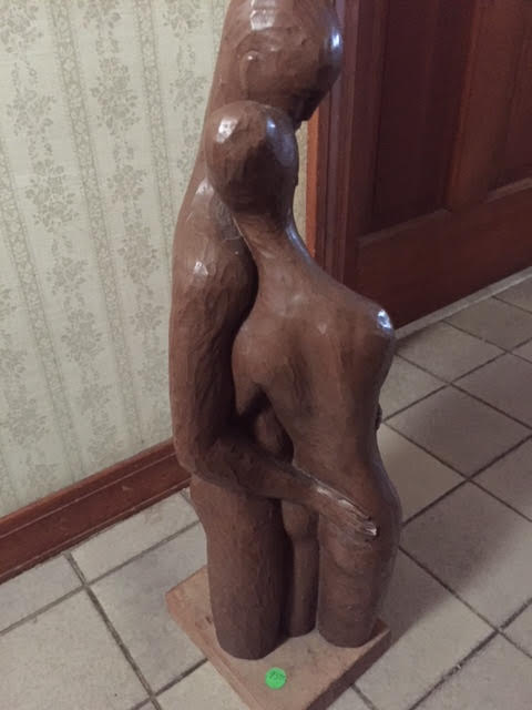 "Wooden ""Lovers"" Sculpture"