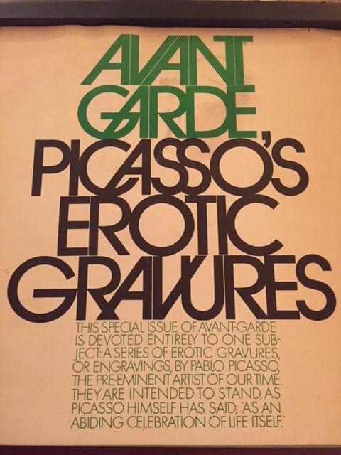 Avant Garde – Picasso's Erotic Gravures, 1969