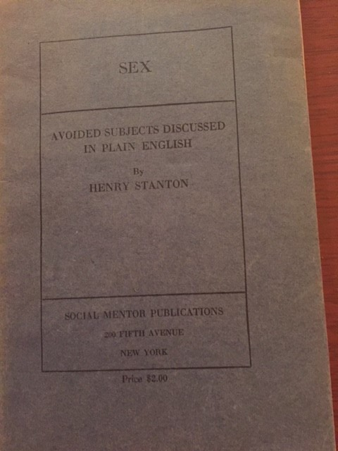 "Social Mentor Publications – 6 Titles Including ""Sex: Avoided Subjects Discussed in Plain English"" and ""Physical Beauty: How to Develop and Preserve It"", 1922"