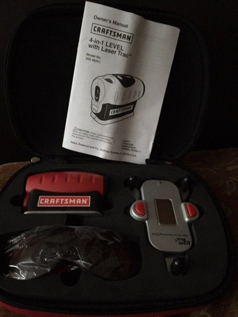 Craftsman 4-in-1 Level with Laser Trac and Carrying Case – Like New